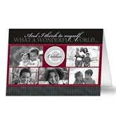 Our Monogram Personalized Photo Christmas Card- 5 Photo - 10555-5