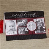 Our Monogram Personalized Photo Christmas Card- 4 Photo - 10555-4