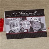 Our Monogram Personalized Photo Christmas Card- 2 Photo - 10555-2