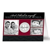 Our Monogram Personalized Photo Christmas Card- 3 Photo - 10555-3