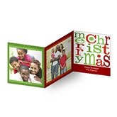 Merry Christmas Square Tri-Fold Photo Cards - 10562