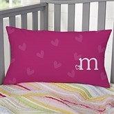 Heart Felt Personalized Lumbar Throw Pillow - 10565-LB