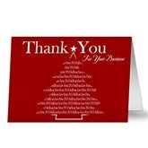 Thank You For Your Business Corporate Christmas Cards - 10573