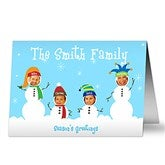 Snowman Photo Fun Christmas Cards- 4 Photo - 10577-4