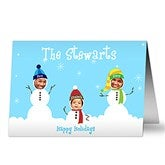Snowman Photo Fun Christmas Cards- 3 Photo - 10577-3