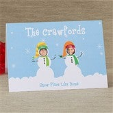 Snowman Photo Fun Christmas Cards- 2 Photo - 10577-2