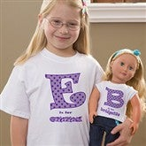 Alphabet Name© Personalized Youth & Doll T-Shirt Set - 10583-SET
