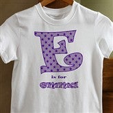 Alphabet Name© Personalized Youth T-Shirt - 10583-YT