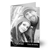 Peace, Love, Joy Photo Christmas Cards- Vertical - 10586-V