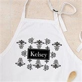 Damask Personalized Apron - 10612-A