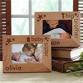 Big/Baby Brother & Sister© Personalized Wood Frame - 10613