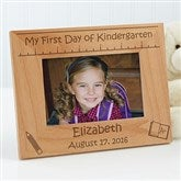 1st Day of School Personalized Picture Frame- 4 x 6 - 10619