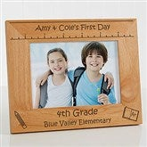 1st Day of School Personalized Picture Frame- 5 x 7 - 10619-M