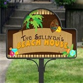 Tropical Paradise Personalized- Yard Stake With Magnet - 10625-S