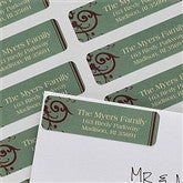 Ornamental Greetings Return Address Labels - 10629