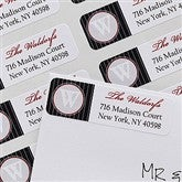 Monogram Return Address Labels - 10635