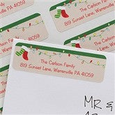 Stocking Family Characters Return Address Labels - 10638