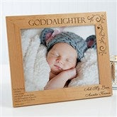 Godchild Personalized Picture Frame- 8 x 10 - 10650-L