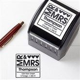 Mr. & Mrs. Self-Inking Address Stamper - 10656