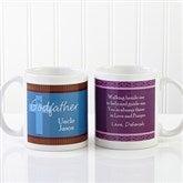 To My Godparents Personalized Coffee Mug 11 oz.-White - 10669-W