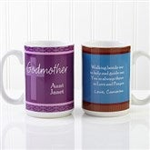 To My Godparents Personalized Coffee Mug 15 oz.- White - 10669-L