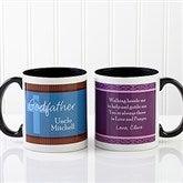 To My Godparents Personalized Coffee Mug 11oz.- Black - 10669-B