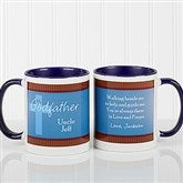 To My Godparents Personalized Coffee Mug 11oz.- Blue - 10669-BL