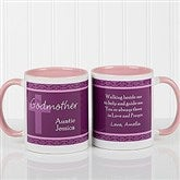 To My Godparents Personalized Coffee Mug 11oz.- Pink - 10669-P