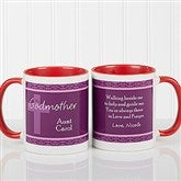 To My Godparents Personalized Coffee Mug 11oz.- Red - 10669-R