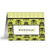 Damask Greetings Personalized Note Cards - 10676