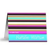 Namely Stripes Personalized Note Cards - 10689