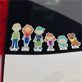 76 Family Characters Personalized Car Clings - 10702
