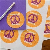 Pretty Peace Personalized Stickers - 10714