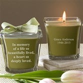 In Memory Scented Candle- Papaya & Bamboo - 10733-P