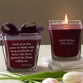 In Memory Scented Candle- Mulberry - 10733-M