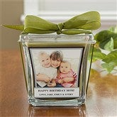 Picture Perfect Personalized Scented Glass Candle-Papaya & Bamboo - 10736-P