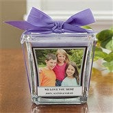 Picture Perfect Personalized Scented Glass Candle-Lavender & Linen - 10736-L