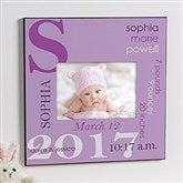 All About Baby Personalized 5x7 Wall Frame For Girls - 10750