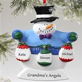 Frosty Family© Personalized Ornament - 3 Names - 10762-3S