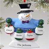 Frosty Family© Personalized Ornament- 4 Names - 10762-4S