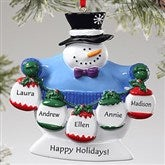 Frosty Family© Personalized Ornament- 5 Names - 10762-5N