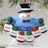 Frosty Family© Personalized Ornament- 6 Names - 10762-6