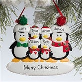 Penguin Family© Personalized Ornament--6 Names - 10775-6