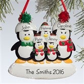 Penguin Family© Personalized Ornament-5 Names - 10775-5
