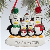 Penguin Family© Personalized Ornament--5 Names - 10775-5
