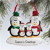 Penguin Family© Personalized Ornament--4 Names - 10775-4