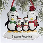 Penguin Family© Personalized Ornament-4 Names - 10775-4