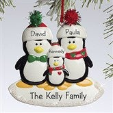 Penguin Family© Personalized Ornament-3 Names - 10775-3