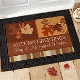 Happy Autumn Personalized Recycled Rubber Back Doormat - 10815