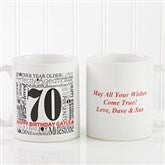 Another Year Has Gone By Personalized Coffee Mug- 11 oz.- White - 10835-S